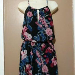 Forever 21 Maxi Dress Black Floral Size Small